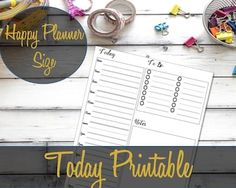 Happy Planner Inserts, Happy Planner Hourly, Daily Insert, Happy Planner Printable, Create 365, MAMBI Insert, Happy Planner Pages, Today