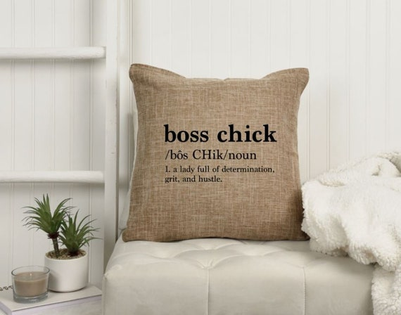 18x18 Boss Chick Definition  Boss Babe  Babe Cave