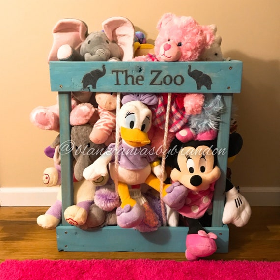 Stuffed Animal Zoo Stuffed Animal Storage Stuffed Animal Etsy