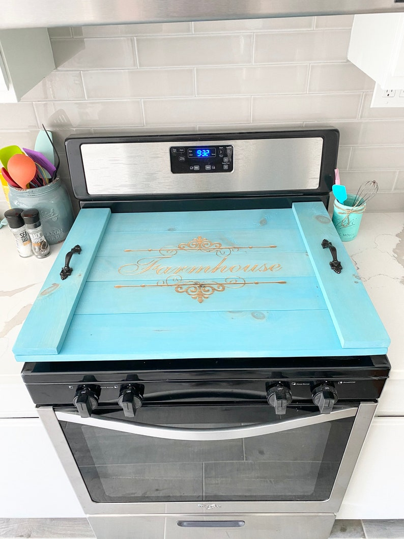 Rustic Noodle Board Gas or Electric Stove Cover ...