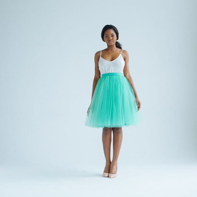 3b2d291301 Mojito Madness tulle skirt   tiffany mint green tulle long
