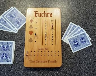 Euchre Card Game Scoring Board