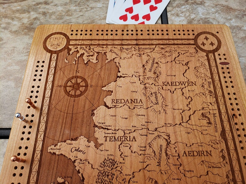 The Witcher World Map Cribbage Board | Etsy