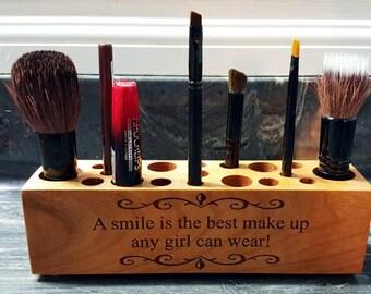 Engraved Make Up Brush Holder