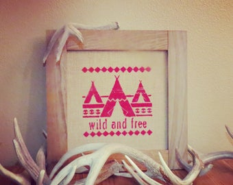 Wild and free home decor