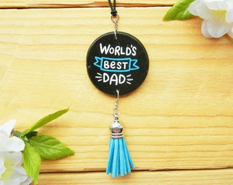 World's Best Dad, Car Accessories for Dad, Gift for Husband, Truck, Vehicle, Father's Day Gift