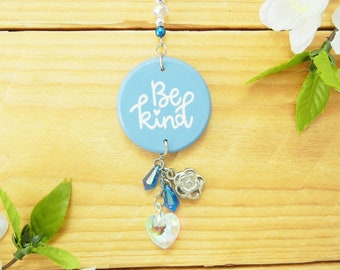 Be Kind, Car Accessories for Women, Car Charm, Inspirational Quote, Rear View Mirror Hanger, Decor, Decoration, Birthday Gift