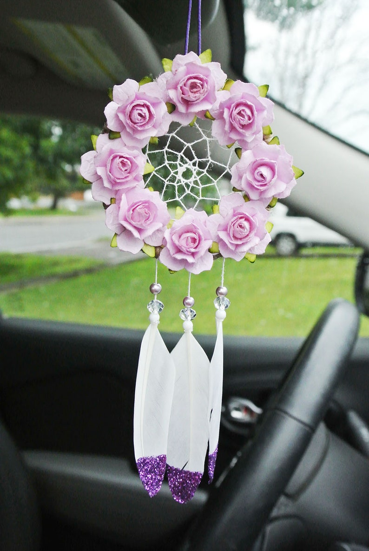 Purple Dream Catcher, For Car, Glitter, Car Accessories, Decor, Interior  Car, Rearview Mirror, Mirror Charm, Gift for Her