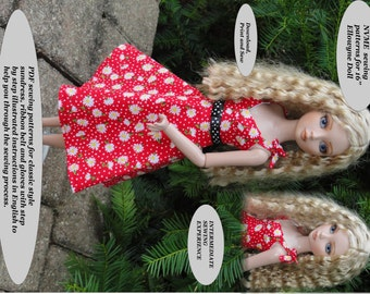 Doll Clothes PDF Sewing Patterns for 16'' Ellowyne Doll ELL-7 by NVME