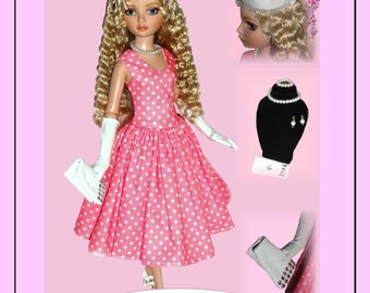 Doll Clothes PDF Sewing Patterns for 16'' Ellowyne Doll by NVME