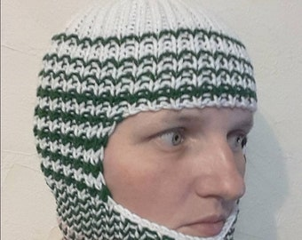 fff0bcbfb13 Hand knit winter spring autumn sport wool blend balaclava face mask