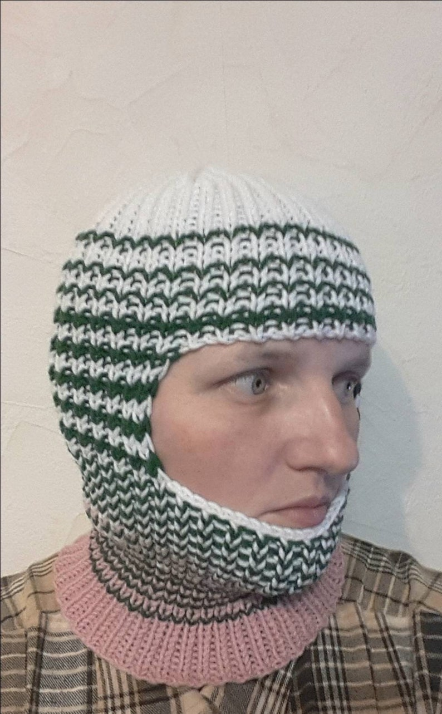 ski mask helmet motobyke mask hat Hand knit winter spring autumn sport  wool blend  balaclava face mask ready to ship