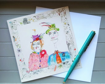 Myrtle and Jerome Greetings card