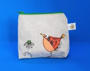 Quirky bird purse