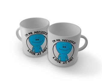 Rick and Morty Mug - Mr Meeseeks, look at me!