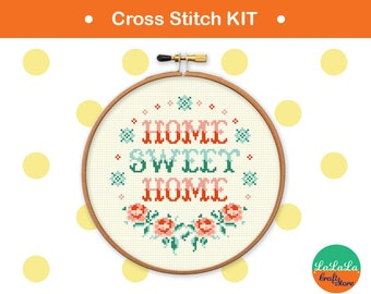Home Sweet Home Cross Stitch Pattern Funny Cross Stitch Etsy