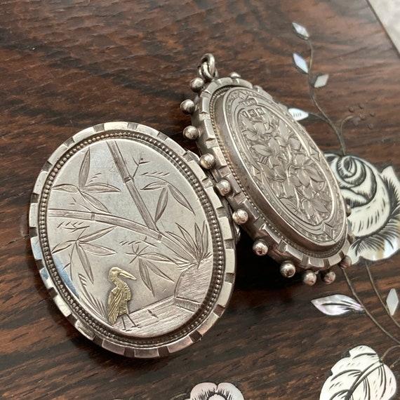 Antique Bird Locket / Victorian Silver Locket / St