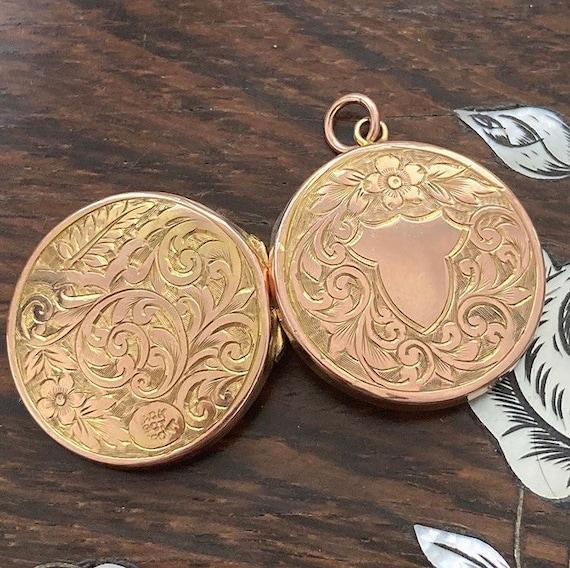 Antique Rose Gold Locket / Antique Locket Necklace
