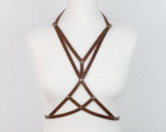 LIMITED brown edition Leather BODY HARNESS