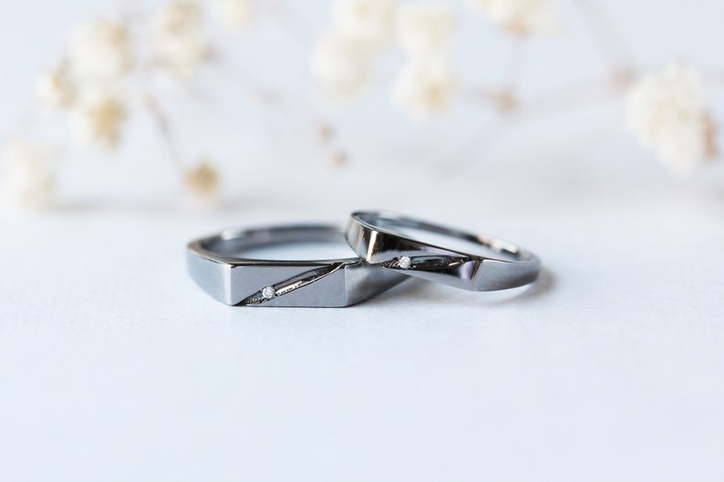 Wedding Rings Sets For Him And Her.Black Couple Rings Set Black Wedding Rings Sets Couple Wedding Rings Christmas Gift Valentines Gift Gift For Him His And Her Promise Rings
