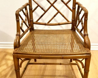 Vintage Chippendale Bamboo Chair
