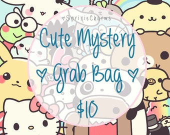 Cute Kawaii Mystery Grab Bag - Bag Filled with Cuteness and Kawaiiness, Stationery Grab Bag, Stationary Grab Bag, Stationery Mystery Box/Bag
