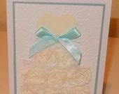 bridal shower card handmade bridal shower card embellished wedding shower handmade card
