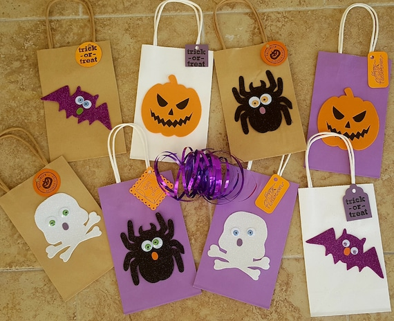 Halloween Crafts For Kids Halloween Bags With Handles Kit Etsy