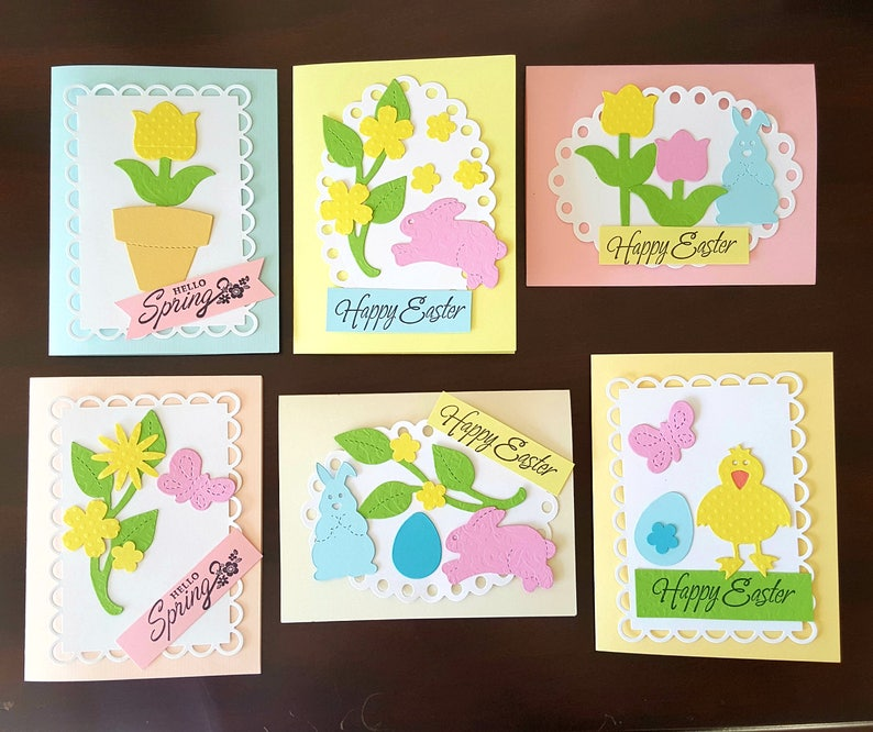 Easter Card Making Kit For Kids Easter Craft Projects For Etsy