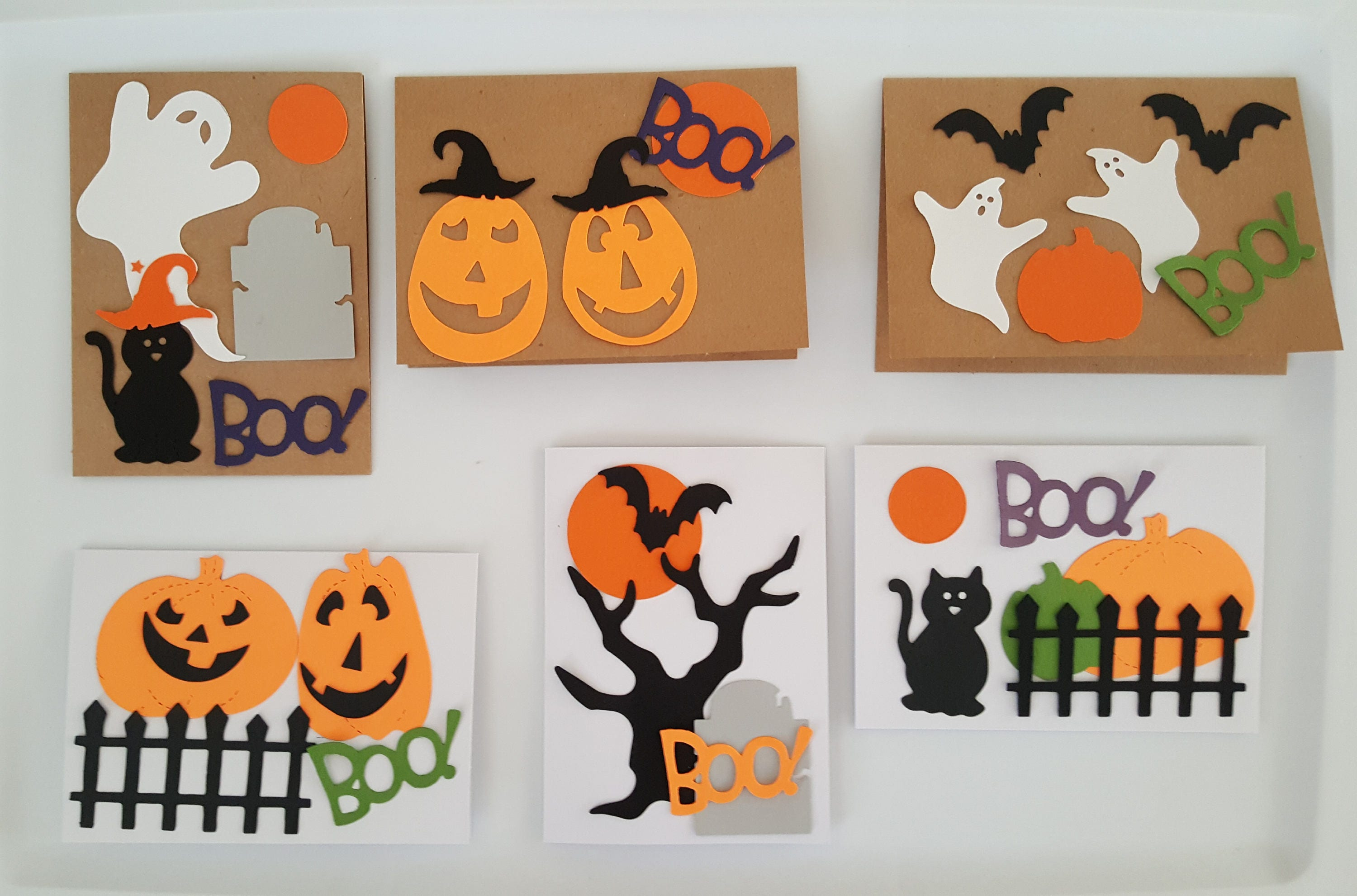 Halloween Card Making Kit Halloween Craft Projects For Kids Etsy