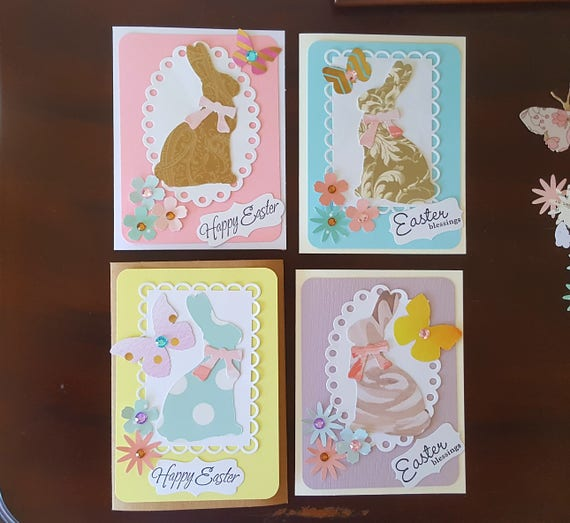 Easter Card Making Kit With Embellishments Shabby Easter Card Easter Craft Projects Easter Crafts For Kids Spring Crafts