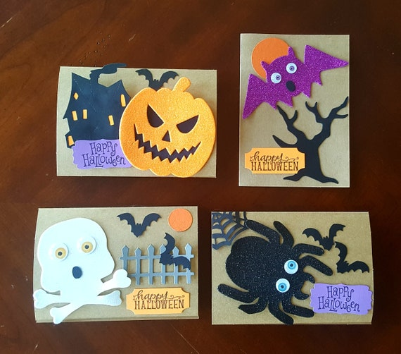 Halloween Card Making Kit For Kids Craft Projects For Kids Etsy