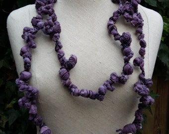 Separate purple chain of textile