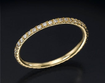 Diamond eternity band, eternity diamond ring, wedding band, full eternity ring, anniversary ring, engagement ring, stackable ring