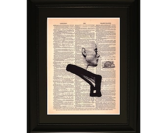"Silouette"".Dictionary Art Print. Vintage Upcycled Antique Book Page. Fits 8""x10"" frame"