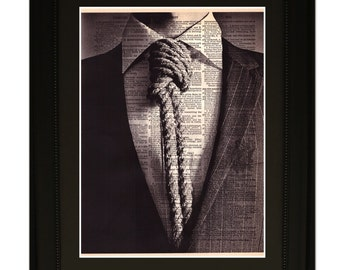 "Suits"".Dictionary Art Print. Vintage Upcycled Antique Book Page. Fits 8""x10"" frame"