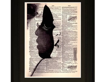 "Personality"".Dictionary Art Print. Vintage Upcycled Antique Book Page. Fits 8""x10"" frame"