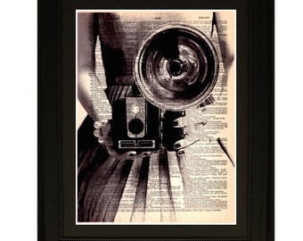 "Prestige"".Dictionary Art Print. Vintage Upcycled Antique Book Page. Fits 8""x10"" frame"