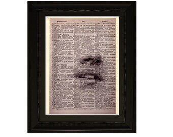 "Blindness"".Dictionary Art Print. Vintage Upcycled Antique Book Page. Fits 8""x10"" frame"