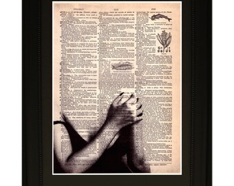 "Soul''.Dictionary Art Print. Vintage Upcycled Antique Book Page. Fits 8""x10"" frame"
