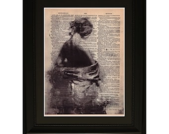 "Innocence"". Dictionary Art Print. Vintage Upcycled Antique Book Page. Fits 8""x10"" frame"