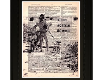 "Reality''.Dictionary Art Print. Vintage Upcycled Antique Book Page. Fits 8""x10"" frame"