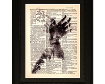 """Illusion"""".Dictionary Art Print. Vintage Upcycled Antique Book Page. Fits 8""""x10"""" frame"""