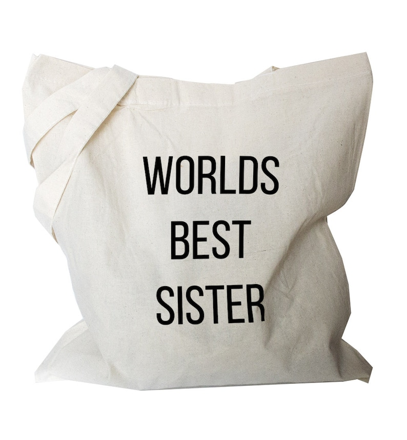 b17 Sister tote Bag tote shoulder bag folding shopping bag with funny quote cotton tote bag foldable canvas tote