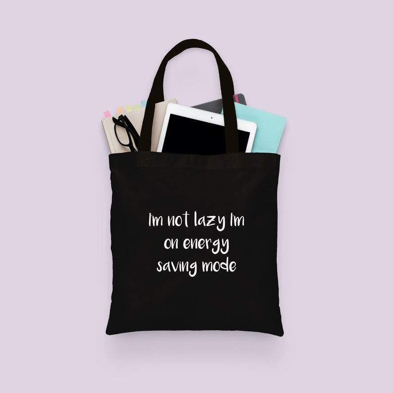 4405ce494d Tote Bag Funny Canvas Tote Black Totes with Quotes Funny | Etsy