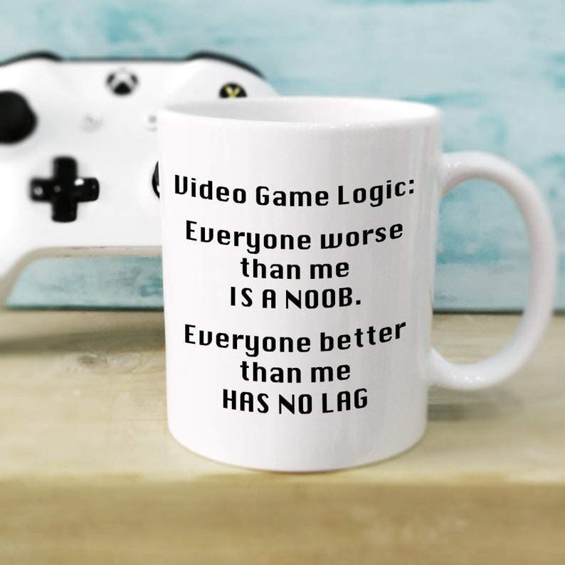 Gamer Gifts Noobs And Lag Gaming Mug Nerd Mugs Birthday Gift For Him