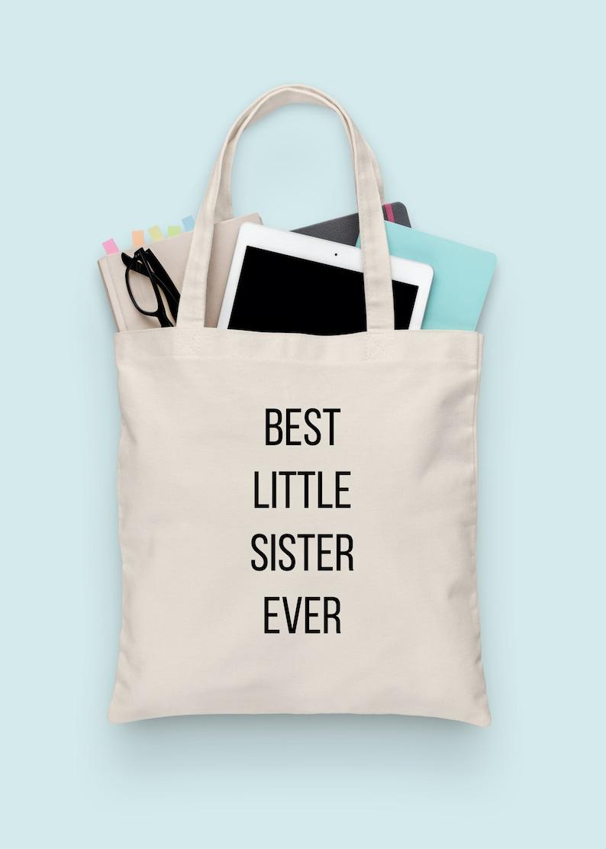 c8aa81674 Little Sister Tote Bag tote shoulder bag folding shopping | Etsy