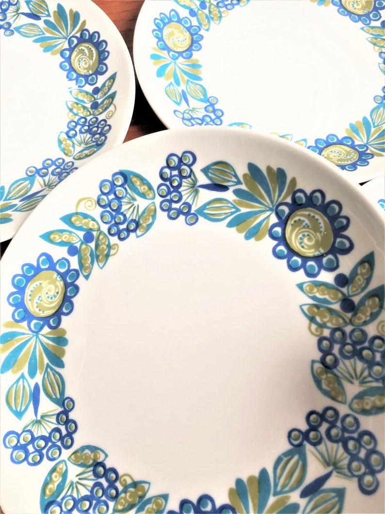 Figgjo Flint Norway Dinner plate set  Tor Viking  Made in Norway  1970s  Turi Gramstad Oliver Design  Dessert appetizer plates