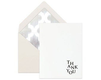 CLASSY THANK YOU Card | Thanks Card | Chic Thank You Card | Minimalist Thank You Card | Simple Thank You Card | Elegant Thank You Card
