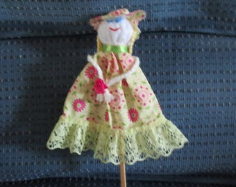 Sunshine Lady Chopstick Puppet